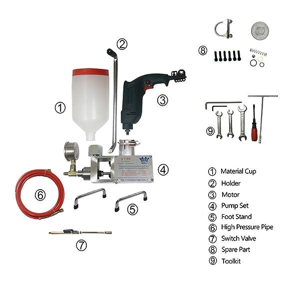 Ximo 780 W 220 V or110 V alta presión de unión, 0,99 Bomba de inyección máquina para hormigón reparación de fugas: Amazon.es: Bricolaje y herramientas