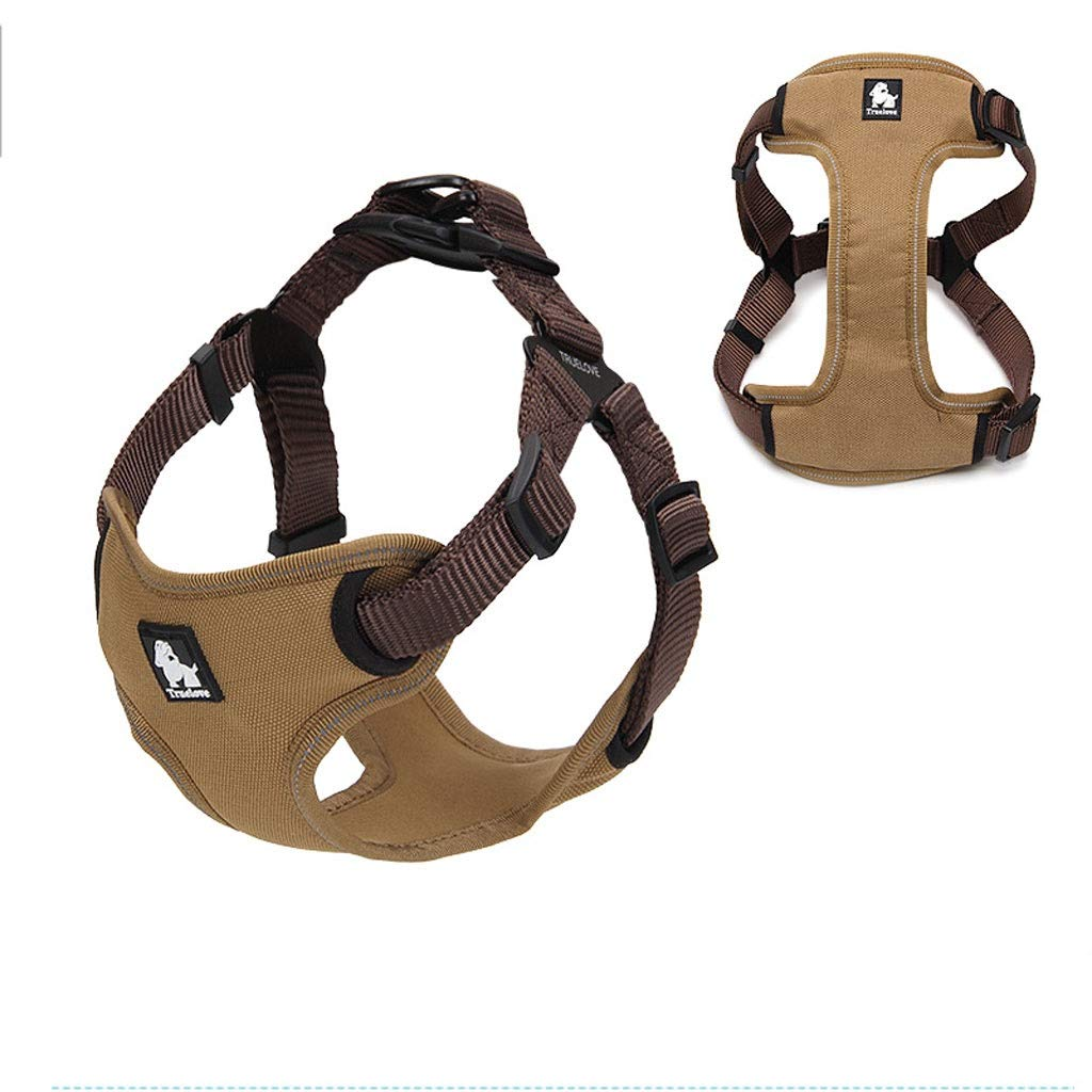 Brown SDog Vest Harness Home Small Medium Dog Chest Strap Traction Rope Outdoor Waterproof Dog Chain, pet Supplies (6 colors Optional) (color   bluee, Size   S)