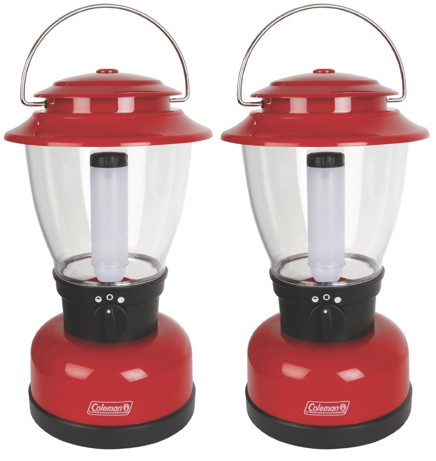 Set of 2 Coleman Classic XL lantern - 400 Lumens - Rechargeable - 125 Hour Runtime
