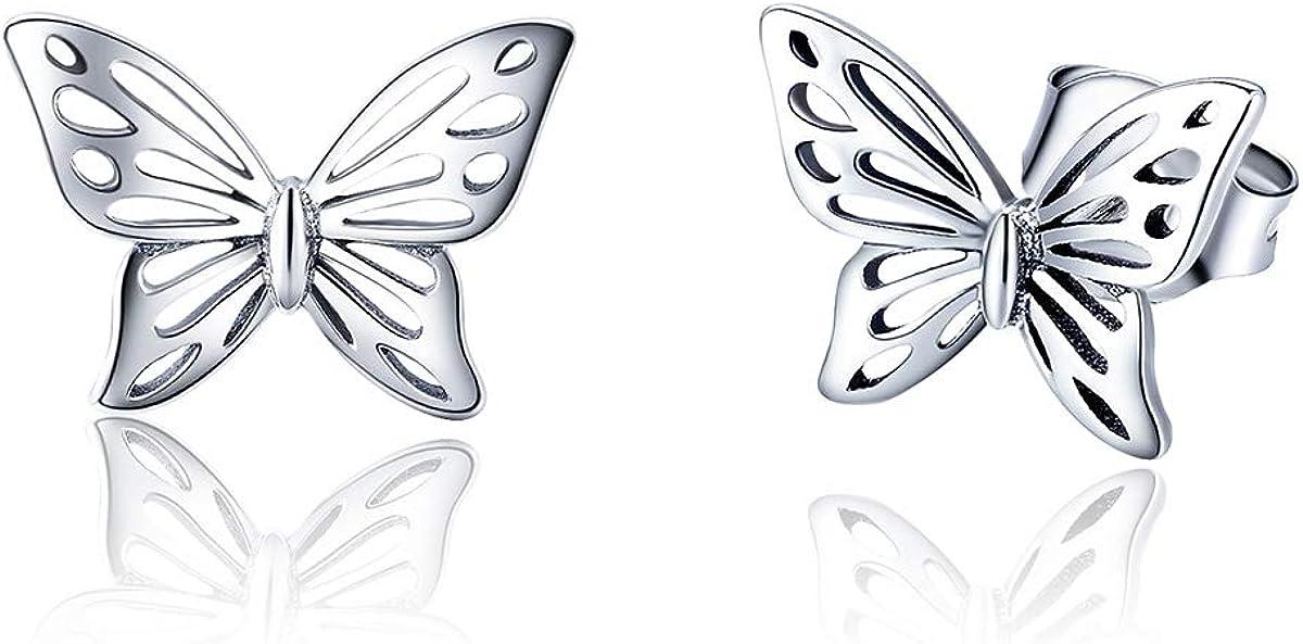 Gift for Sister Butterfly Inspirational Post Stud Earrings Gift for Friend Girl Image Stud Earrings with Words Stud Earrings for Teen