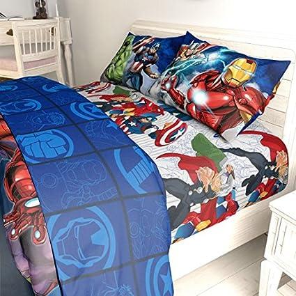 amazon com n2 5 piece kids blue marvel avengers comforter twin full