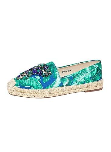 4eb57cef0 Vajor Women's Embellished Espadrilles: Amazon.in: Shoes & Handbags