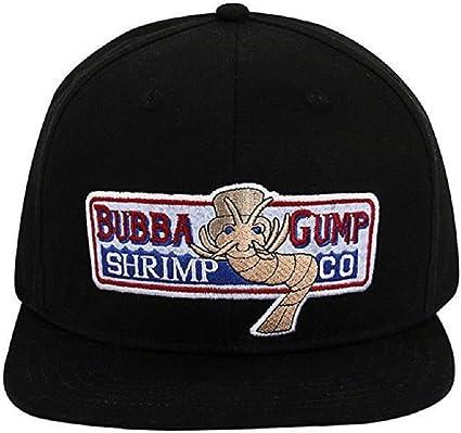 Bubba Gump Shrimp Embroidered  Baseball Cap Black.