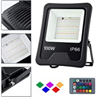 HENGMEI 100W RGB Foco LED proyector reflector Impermeable