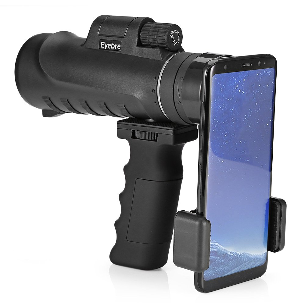 Monocular Telescope 10 x 42 High Power HD Wide View Mono Spotting Scope With Phone Holder and Handheld Stand for Bird Watching Fishing Hunting Camping Travelling by sunmarket