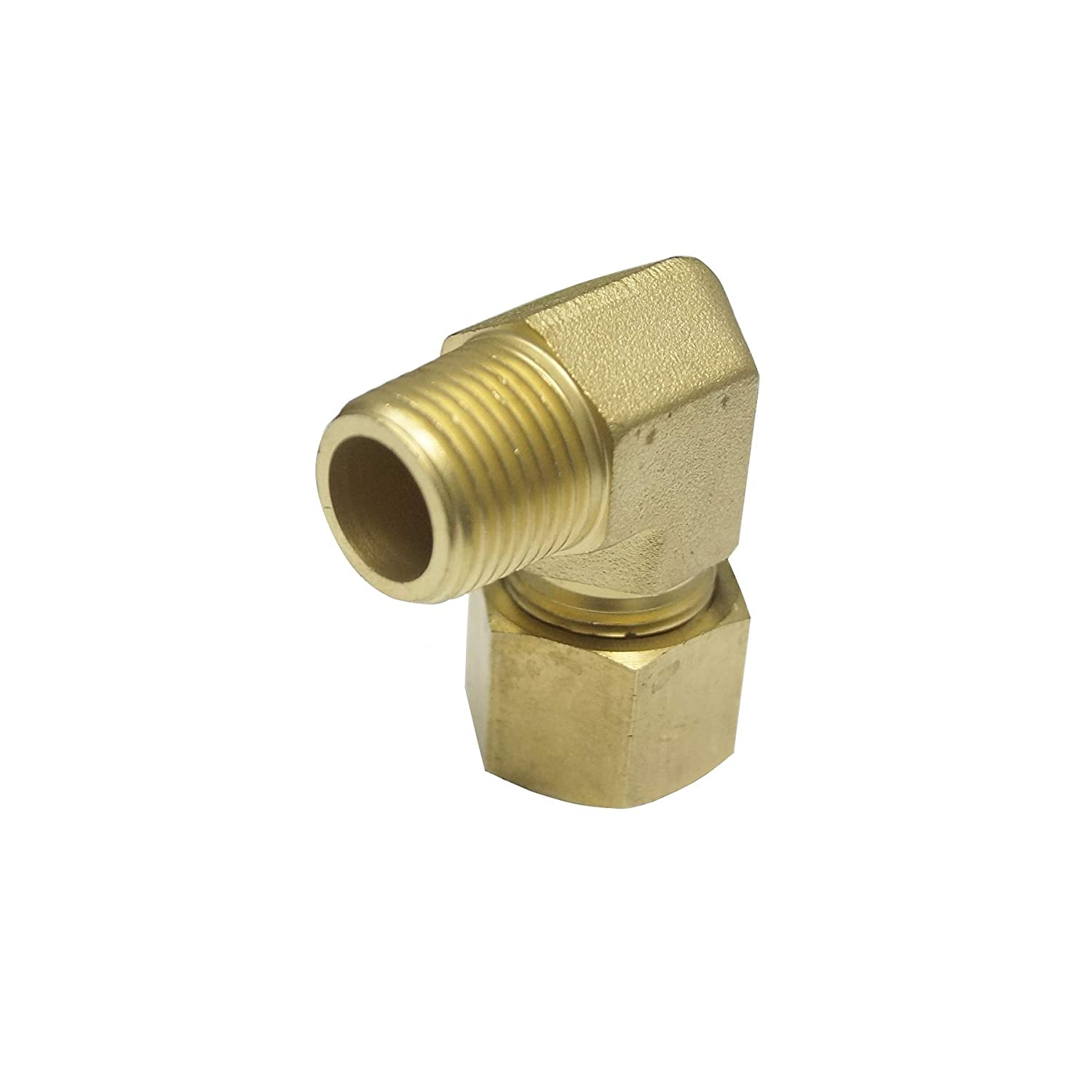 for 14MM OD Tube 90 Degree Male Elbow 14S x 1//2 NPT Male Thread Heavy Series Brass Material