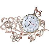 GIFT GARDEN 掛け時計 木製 花 桜 サクラ 蝶 おしゃれ かわいい ウォールクロック インテリア お祝い 記念日 贈り物 プレゼントB161108