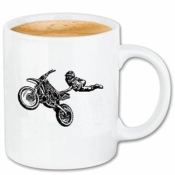 """taza para café """"MÁQUINA DE MOTOCROSS SILUETA ??125cc motocross Freestyle Motocross motocicleta"""