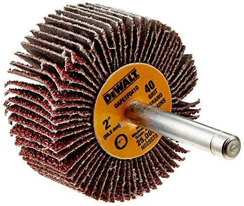 DEWALT DAFE1F0410 2-Inch by 1-Inch by 1/4-Inch HP 40g Flap Wheel