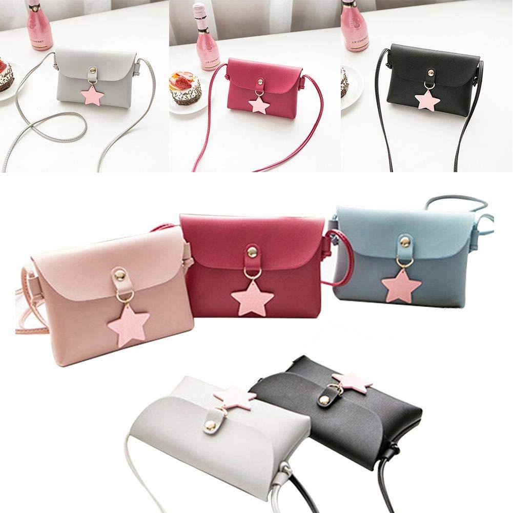 winterswet Umhängetasche mit stilvollem Fünf-Stern-Design PU-Tasche Mini-Slanting-Mobiltelefon Einzelne Schulter Kleine quadratische Tasche mit Magnetverschluss-Öffnungsmethode für Frauen