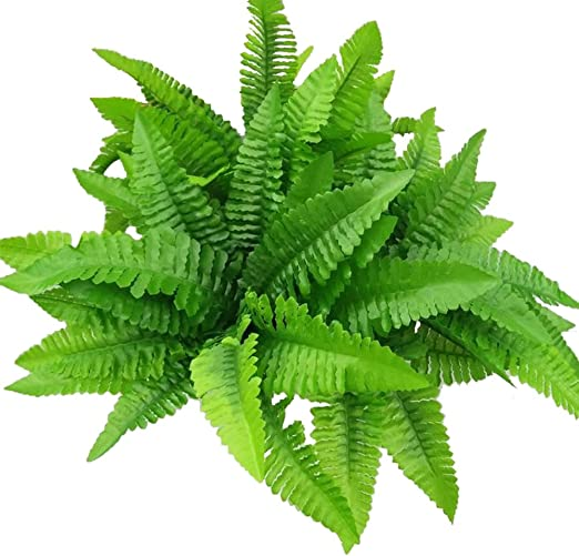 Artificial Boston Ferns Plants Cloth Greenery Bushes Shrubs Foliage Plant