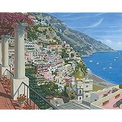 Positano Vista Poster Print by Richard Harpum (10 x 5)