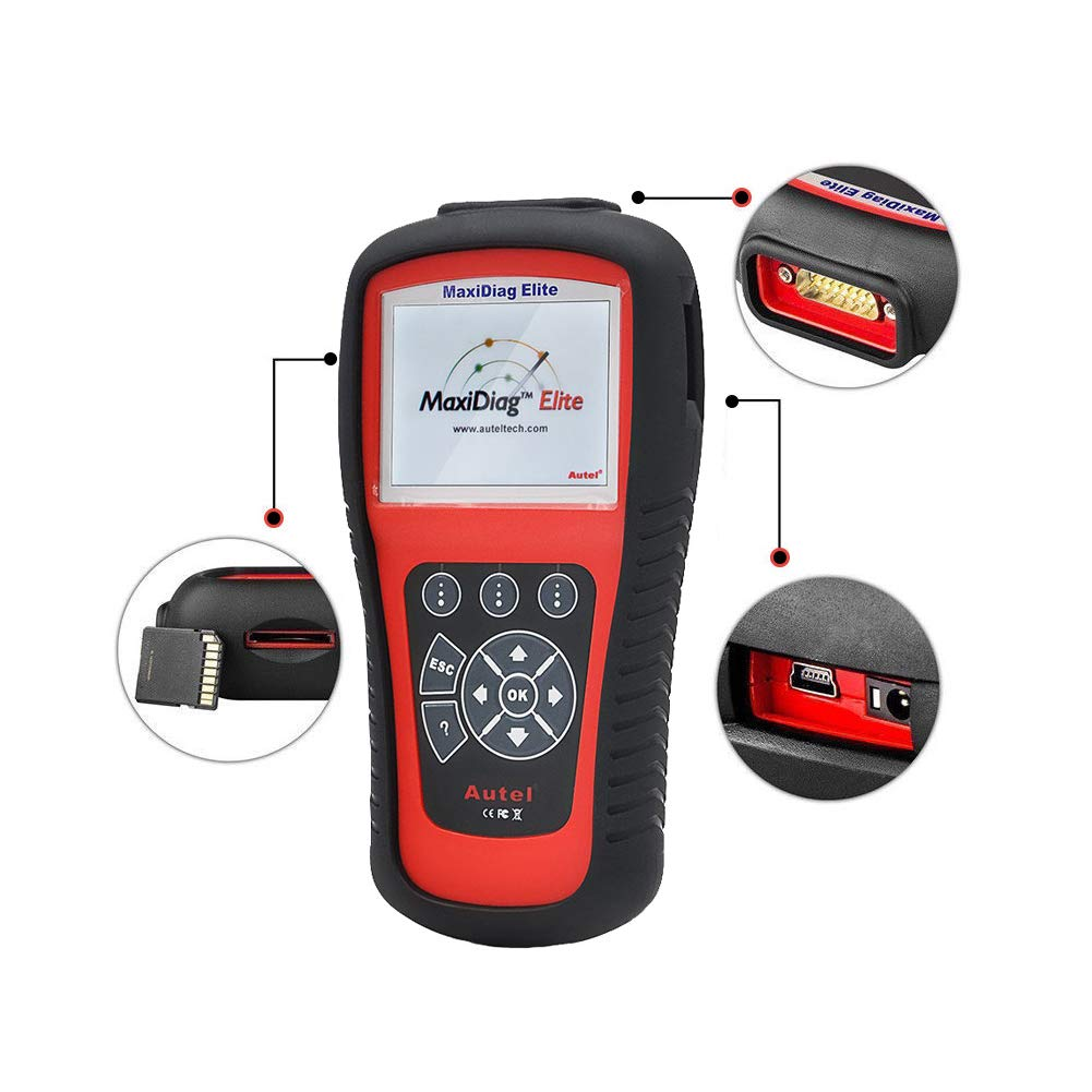 Autel Professional Scan Tool MaxiDiag Elite MD802, OBD2 Car Code Reader for All Systems, Car Diagnostic Scanner for All Electronic Modules (Engine, Transmission, ABS, Airbag), EPB, Oil Service by Autel (Image #6)