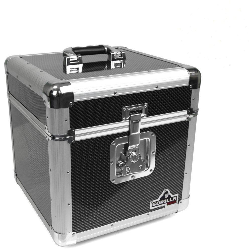 "Gorilla DJ GC-LP100 100x 12"" Vinyl Record Box (Carbon Fibre Style))"""