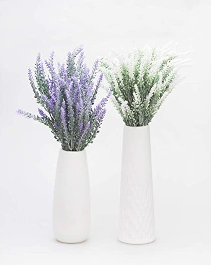 Amazon Artificial Lavender Flowers Bouquet With Special White