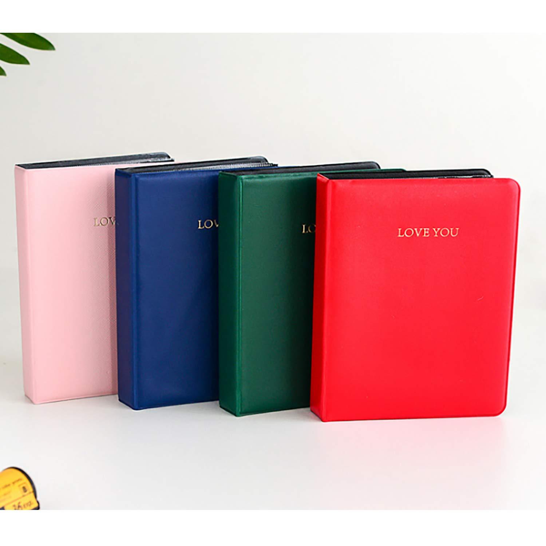 Kodak Mini 3 Pouces Film avec des Autocollants color/és Amimy 64 Poches Album Photos pour Fujifilm Instax Mini 7s 8 8+ 9 25 50 70 90 Aimez-Vous, Rose Sprocket HP Polaroid PIC-Snap 300