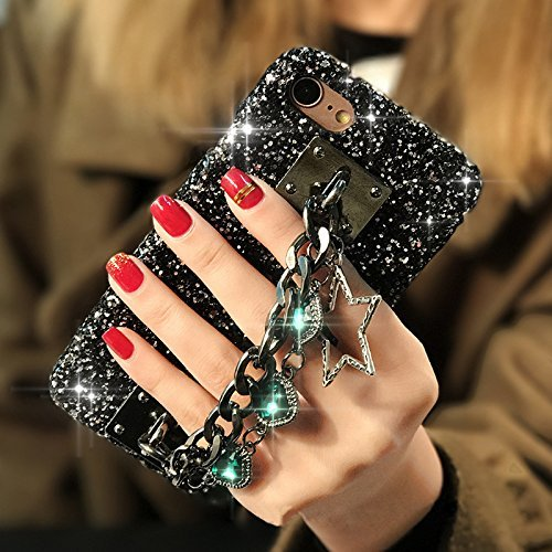 Case for iPhone Xs Max,Star Gem Chain Pendant Bling Rhinestone Diamonds Luxury Sparkle Rhinestones Crystals Bling Diamond Case for Apple iPhone Xs Max 6.5inch 2018 (Green)