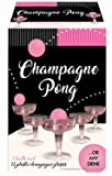 Champagne Prosecco Pong Luxury Kit - Alternative to Beer Pong Game Set - for Birthday, Bachelor, Bachelorette, New Years, Celebration, Party Gift - 12 Plastic Cups and 3 Pink Balls