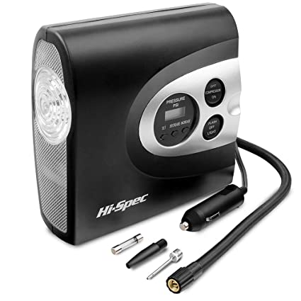 Aquarius 12 V Compresor de aire digital con indicador de presión digital, apagado automático,