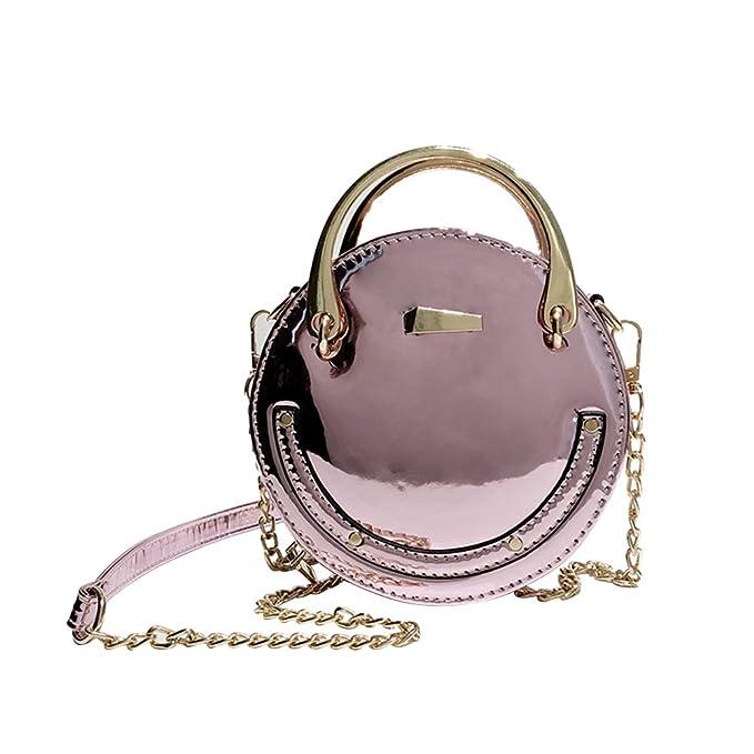 f11b1a57b2e7 Amazon.com: Classic Shiny PU Leather Chain Shoulder Bags Cross-body ...