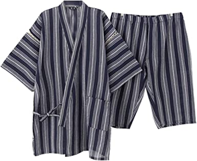 Traje de Pijama Kimono de Estilo japonés para Hombres [C ...