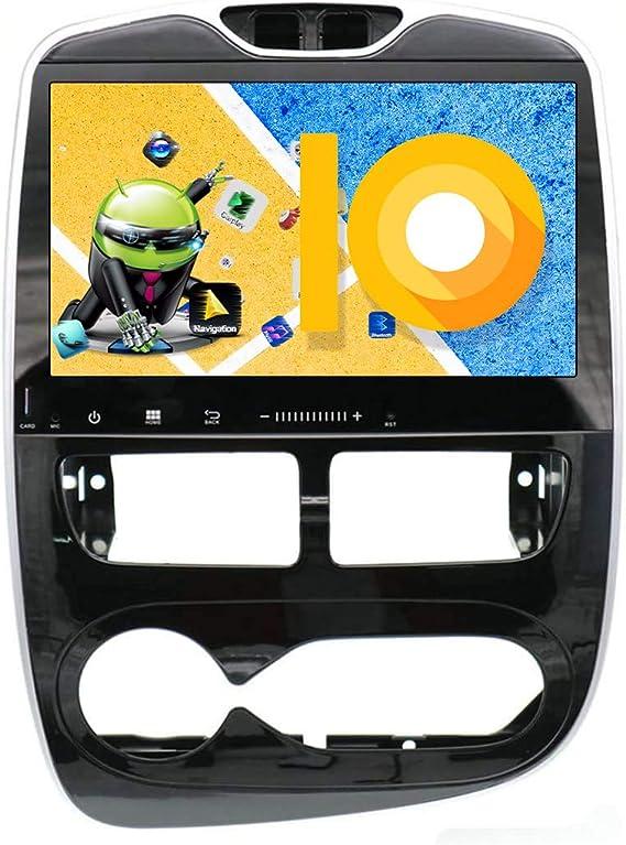 ZWNAV Navegación GPS estéreo para coche Android 9.0 de 10.1 pulgadas para Renault Clio 2013-2016, Europa 49 Country Mapping, reproductor de DVD, SWC, Wifi, Bluetooth, pantalla táctil IPS: Amazon.es: Electrónica