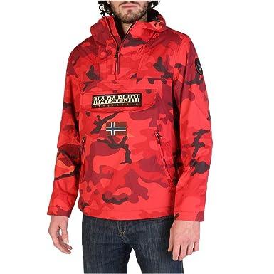 8375275bbfb Napapijri Veste Rainforest Croix Militaire Rouge  Amazon.fr  Vêtements et  accessoires
