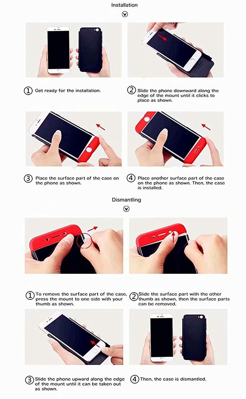 Finemoco Cover per Huawei P30 PRO Cover Vetro Temperato Pellicola,Ultra Sottile Custodia 3 in 1 Protezione a 360 Gradi Full Body Cover Skin Slim Caso Antiurto Anti-graffio Hard PC Bumper Case,Rosso