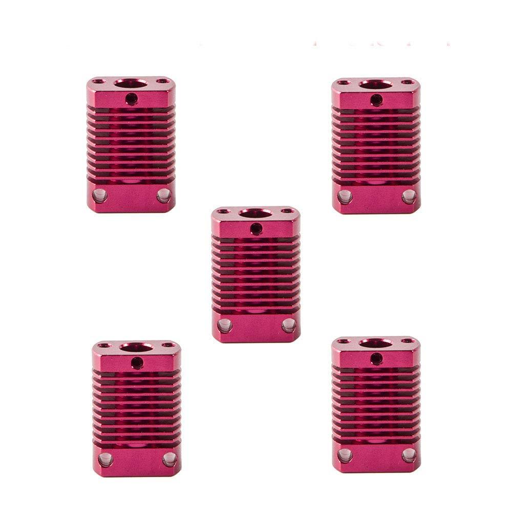 Creality 3D Printer Heat Sink Radiator Fin Aluminum Cooling Block for 3D Printer CR-10S,S4,S5,Ender 3,Ender 3 Pro Series (Pack of 5)