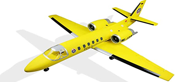 Amazon.com: DYNAM RC Airplane Cessna 550 Turbo Jet Yellow Twin 64mm EDF - SRTF: Toys & Games