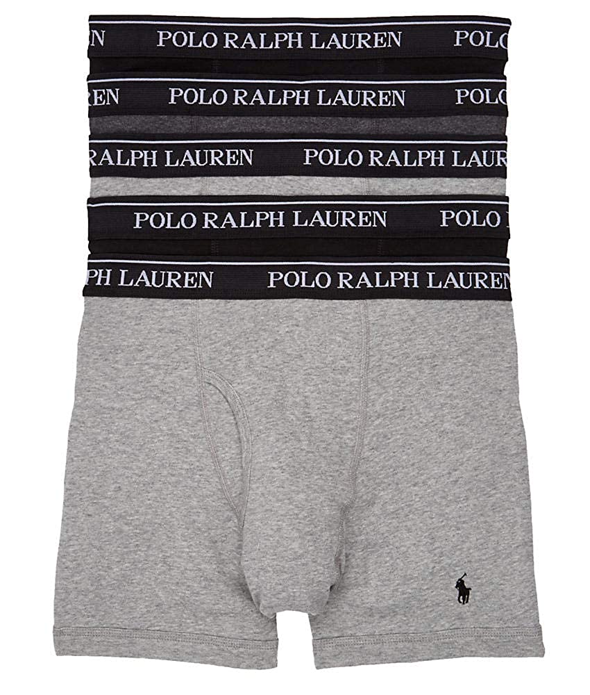 1e225e675a9b Polo Ralph Lauren Men's Classic Fit w/Wicking 5-Pack Boxer Briefs at Amazon  Men's Clothing store: