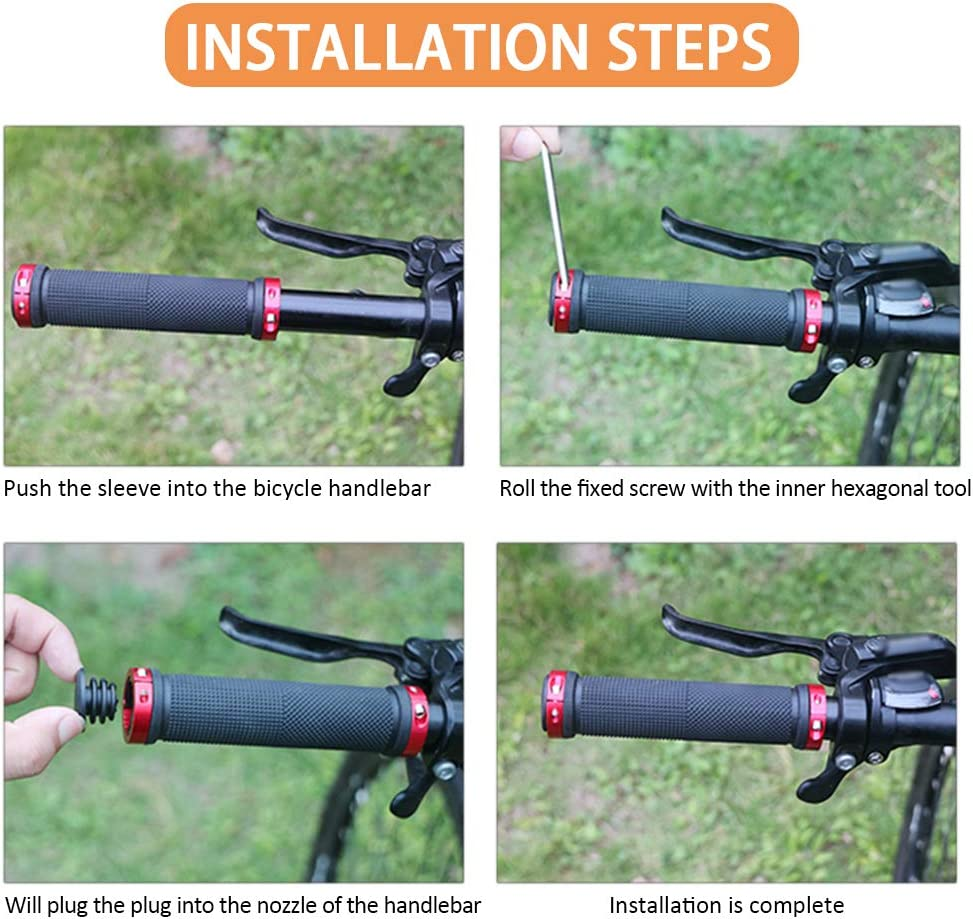 Pu/ños para Bicicletas de Monta/ña Bicicleta Manillar Apretones Doble Cierre Mango para Bicicleta SENDILI Pu/ños para Bicicletas