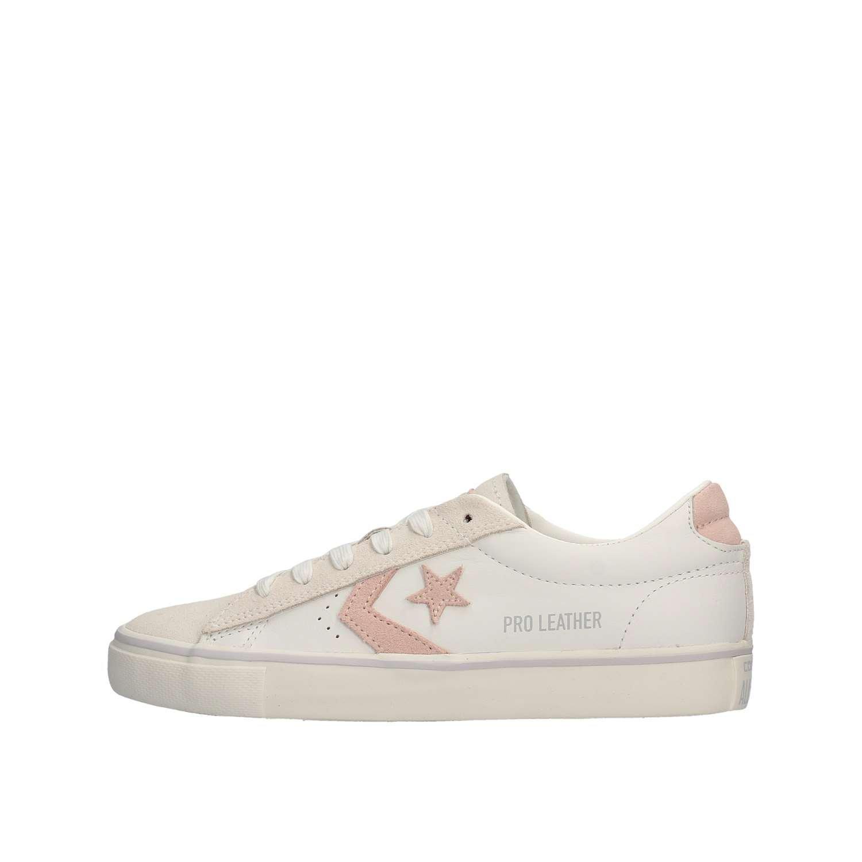 Converse 160926C Rosa Blanca Blancas Zapatillas de Color Rosa Las Mujeres, Los Cordones de Los Zapatos de Cuero 37 EU Bianco