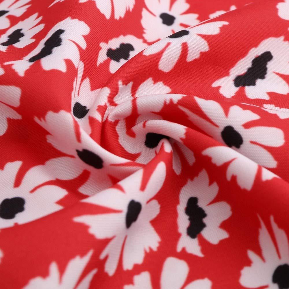 Damen Tops Blumendruck Tanktops /Ärmellos Schulterfrei Tank Tops V-Ausschnitt Shirt Vintage Weste L/ässiger Bluse Kurz Strandbluse Einfarbig Vest Reizvolle Bekleidung Basic Strandbluse