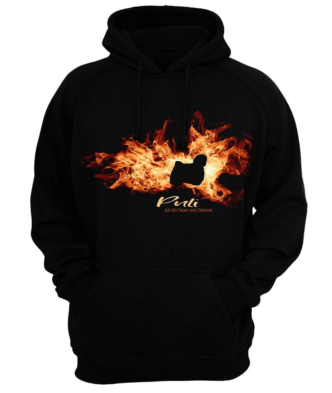 Sweatshirt MINIATUR BULLTERRIER FEUER UND FLAMME by Siviwonder Hoodie