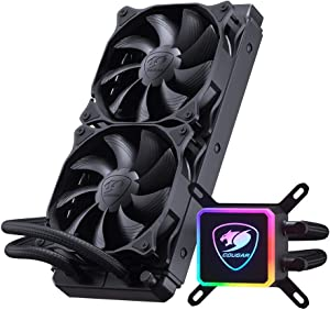 Cougar Aqua High-Performance CPU Liquid Cooler with Vibrant and Dazzling RGB LED Pump Head and a Remote Controller (Aqua 280)