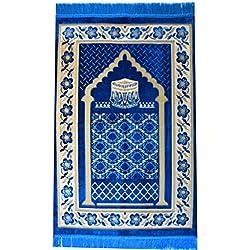 Prayer Rug Mat Carpet Permadani Permaidani Ramadan Eid Turkish Seccade Muslim Sajadah Namaz Janamaz Velvet