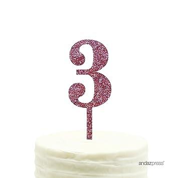 Amazon Andaz Press 3rd Birthday And Anniversary Acrylic Cake