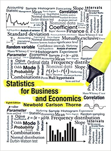 Statistics For Business And Economics 8 Paul Newbold
