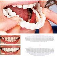 Dentado de dientes cosméticos con chapa de dentadura