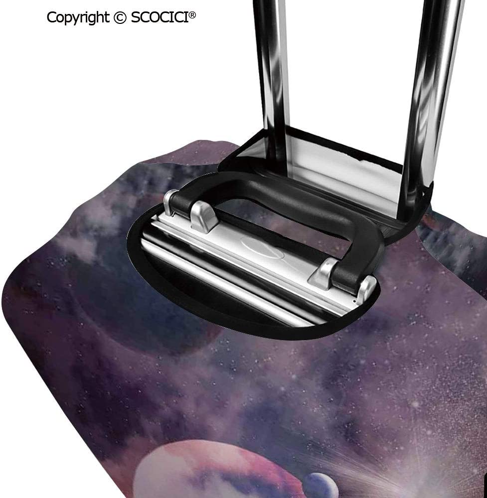 SCOCICI Travel Luggage Cover Suitcase Cover Planets in Fantastic Space Natural Scenery Galaxy Art Print Suitcase Luggage Case Covers Fits 19-32 Inch