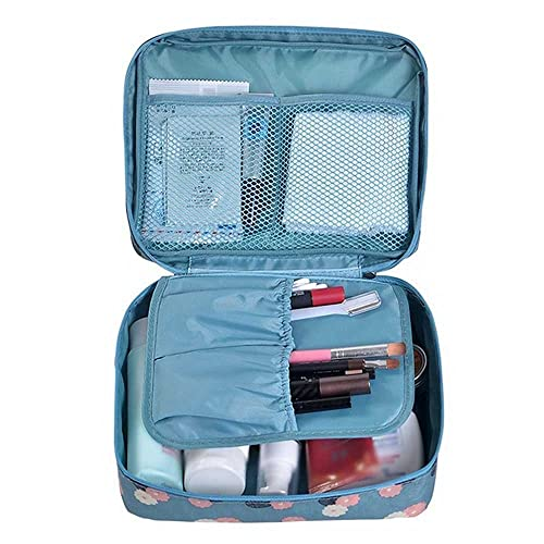 7cc1c41df64b Cherry Roll Clear Cosmetic Makeup Bag Toiletry Travel Kit Organizer (flower  printing sky blue)