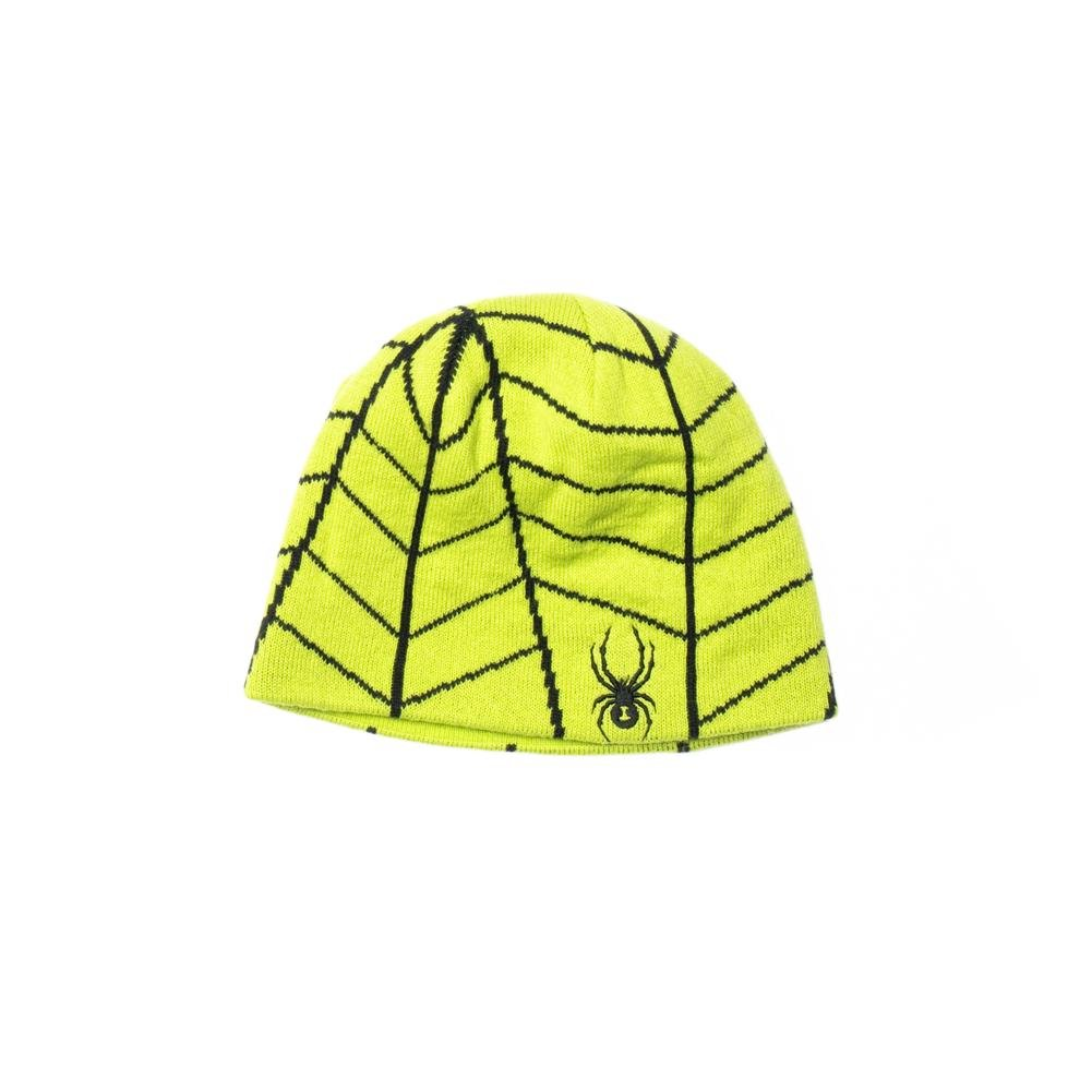 Spyder Boys' Web Hat (Big Kids), Theory Green/Black, One Size