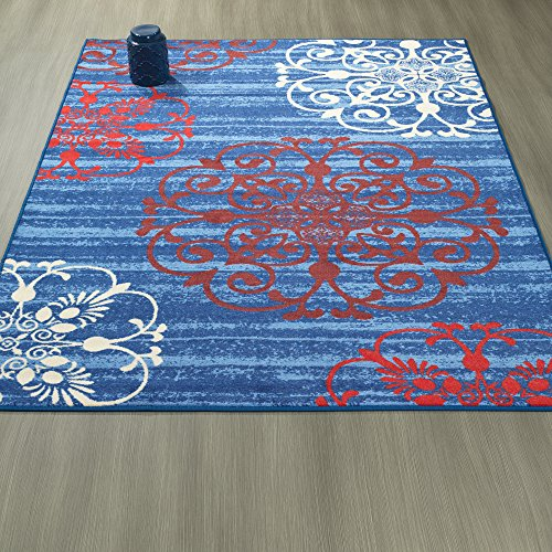 Ottomanson Studio Collection Modern Medallion Design Area Rug, 3'3