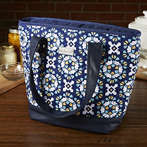 fit-fresh-signature-collection-ladies-melbourne-insulated-tote-zipper-closure-navy-floral-burst