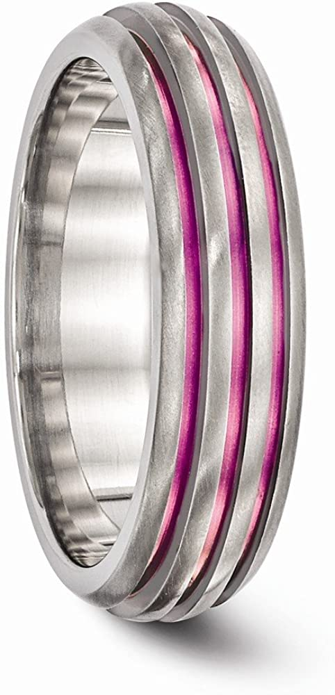 Titanium Triple Groove Pink Anodized Ring Fine Jewelry Ideal Gifts For Women