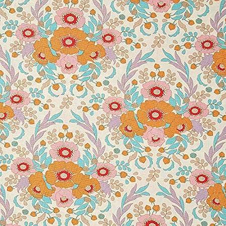 Fabulous Fabrics Tela de algodón Bird Pond Anemone – Naranja/Turquesa — Mercancia al Metro a Partir de 0,5m — para Coser de Almazuela (Patchwork), Accesorios para el hogar y Delantales: Amazon.es: Hogar