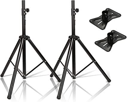 Amazon Com Speaker Stand Agptek Adjustable Height From 37 Inches To 71 Inches Heavy Duty Tripod Speaker Stand Mount Holder For Home Theater Recording Room Studio Party Wedding And Meeting 2 Pack Musical Instruments