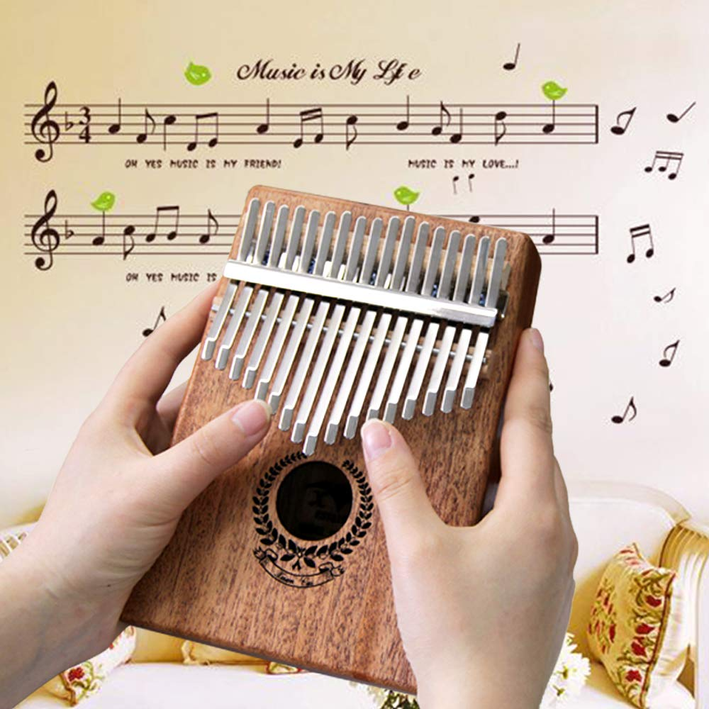 Kalimba 17 Keys Thumb Piano builts-in EVA high-performance protective box, tuning hammer and study instruction best gift For Kids Without Any Musical Basis Or Musician by Higohome (Image #4)