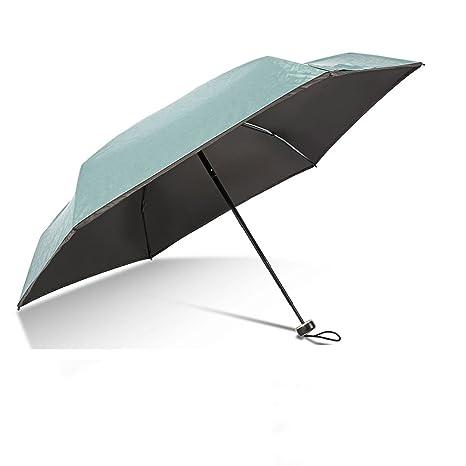 Giwox Mini Paraguas de Tamaño de Bolsillo Plegable Ultra luz Viaje Paraguas Anti UV Compacto Paraguas